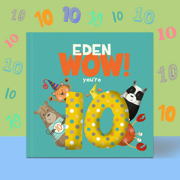 \'Wow You\'re Ten\' 10th Birthday Children\'s Book