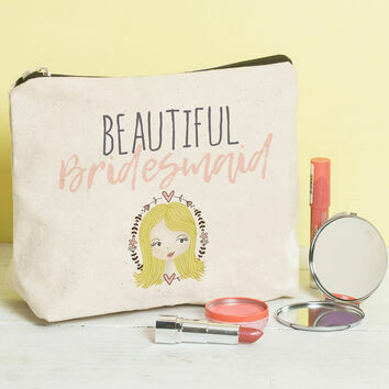 Bridesmaid Wedding Favour Make Up Bag