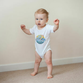 Personalised Elephant Baby Grow
