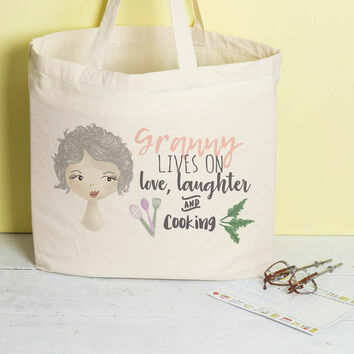 Personalised Hobby Tote for Grandma