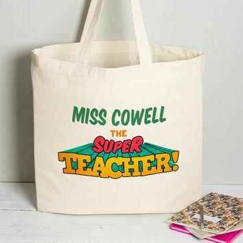 Personalised Teachers Retro Tote Bag