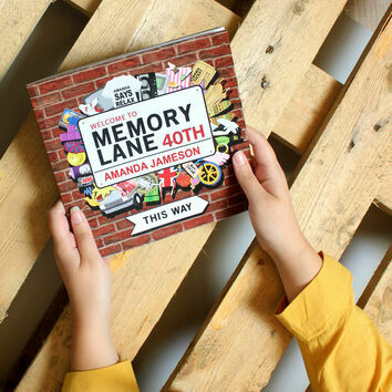 Personalised 40th Birthday Book 'Memory Lane'