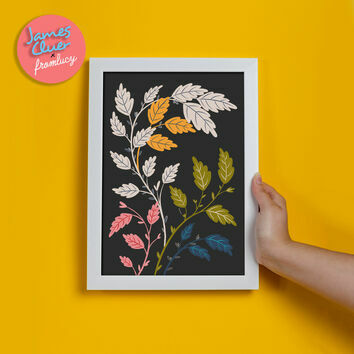 'Growing' Illustrated Print by James Cluer