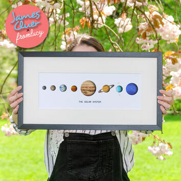 \'The Solar System\' Illustrated Print by James Cluer