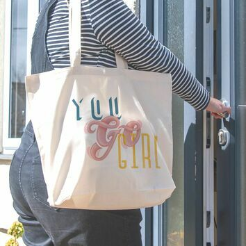 You Go Girl Illustrated Tote Bag