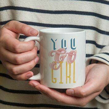 You Go Girl Illustrated Mug