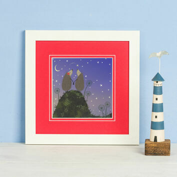 Hedgehugs 'Shooting Star' Framed Print