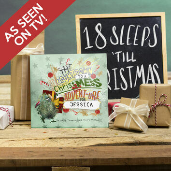 Personalised 'Christmess Advent-ure!' Christmas Advent Book