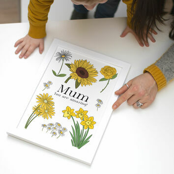 Personalised Flower Print by James Cluer