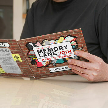 Personalised 70th Birthday \'Memory Lane\' Book
