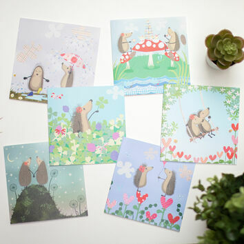 Hedgehugs Illustrated Cards (Set of Six)