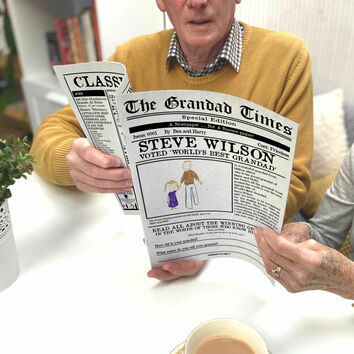 'The Grandad Times' Personalised Newspaper for Grandads