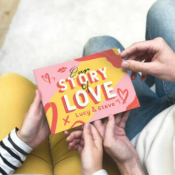 Personalised 'Our Love Story' A5 Book