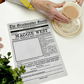 \'The Grandmother Gazette\' Personalised Newspaper for Grandmas