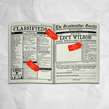 'The Grandmother Gazette' Personalised Newspaper for Grandmas