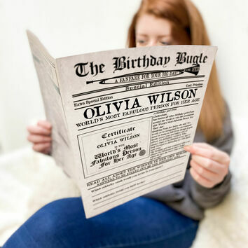 'The Birthday Bugle' Personalised Newspaper For Her