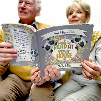 'A Book To Read At Your House' Personalised Book for Grandparents
