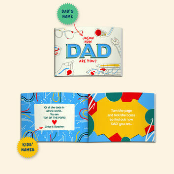 'How Dad Are You?' Personalised A5 Books for Dads