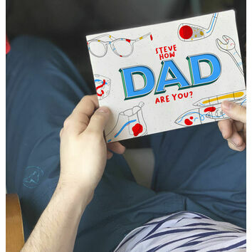 \'How Dad Are You?\' Personalised A5 Books for Dads