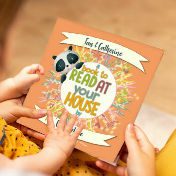 'A Book To Read At Your House' Personalised Book for Godparents