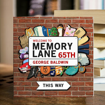 Personalised 65th Birthday 'Memory Lane' Book