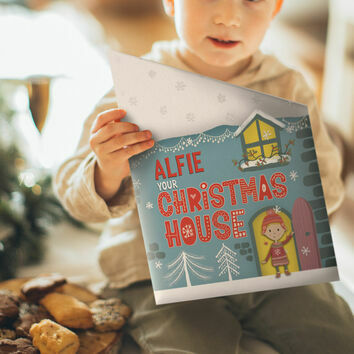 Personalised \'Your Christmas House\' A4 Book