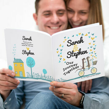 Personalised \'Our Journey Together\' Book for Couples