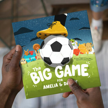 \'The Big Game\' Personalised Football Book for Dads