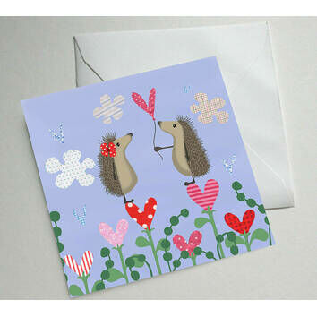 Hedgehugs 'Love' Greetings Card