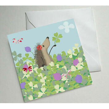 Hedgehugs 'Good Luck' Greetings Card