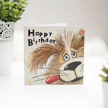 Birthday Mutt Illustrated Birthday Card