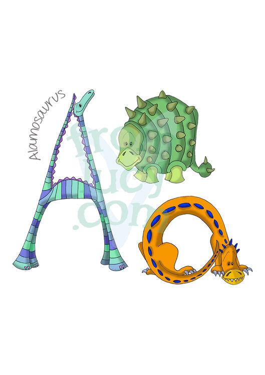Dinosaur Alphabet Personalised Print From 163 35 00