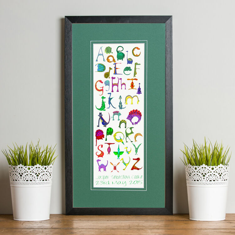 ... Dinosaur Alphabet Personalised Print additional 3 ...