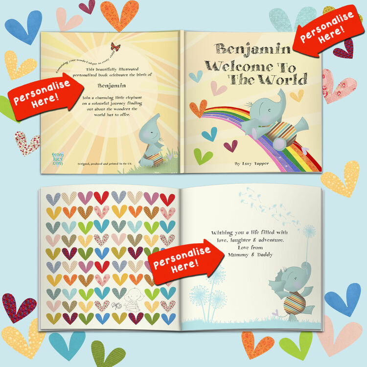 Personalised New Baby Book