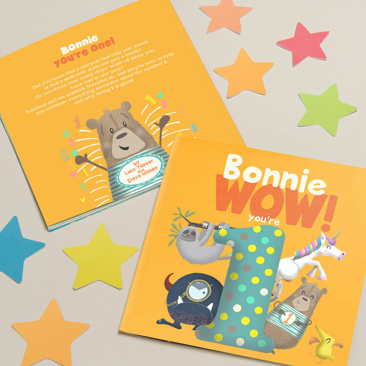 Children S Book Back Cover Text : Wow you re one st birthday children s book from £