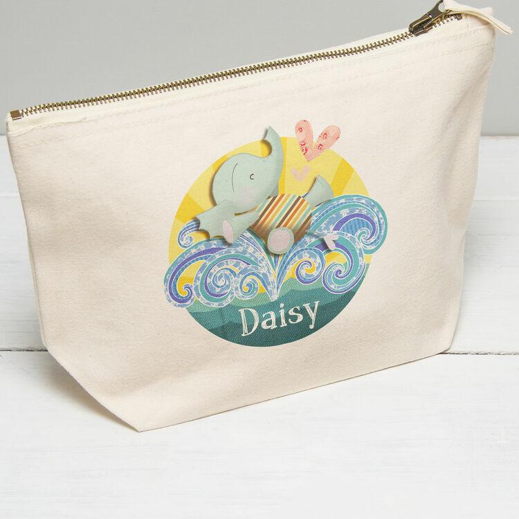 4017ea7ce81 Personalised Elephant Wash Bag additional 1 Personalised Elephant Wash Bag  additional 2