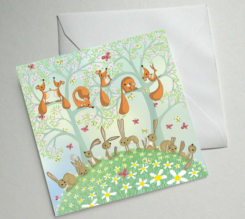 Illustrated Birthday Cards Set Of Five Only 1050