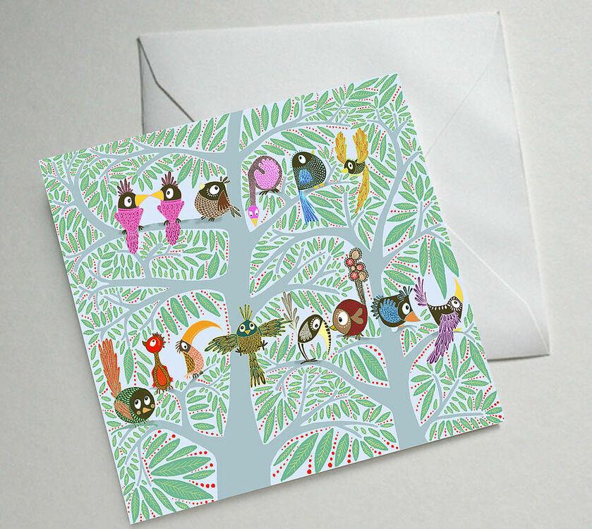 Birdy birthday illustrated birthday card only 250 birdy birthday illustrated birthday card m4hsunfo