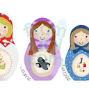 Deluxe Russian Doll Family Personalised Print additional 10