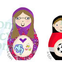 Deluxe Russian Doll Family Personalised Print additional 4