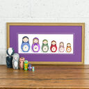 Russian Doll Family Portrait Personalised Print additional 7