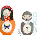 Russian Doll Family Personalised Print additional 7