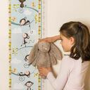 Personalised Illustrated Monkey Height Chart additional 1