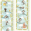 Personalised Illustrated Monkey Height Chart additional 4
