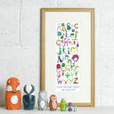 Dinosaur Alphabet Personalised Print additional 1