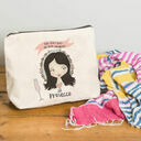 Personalised Illustrated 'This Girl' Make Up Bag For Her additional 5