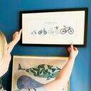 Personalised Family Bicycle Print additional 1