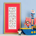 Pirate Alphabet Personalised Print additional 1