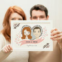 Personalised Illustrated Couple Print additional 1