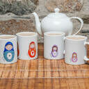 Russian Doll Mugs - Family Set additional 1